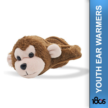 180S Youth Monkey Brown/Almond Oil Ear Warmer (41505-985-01)