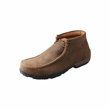 TWISTED X Mens Driving Distressed Saddle Moccasins (MDMW001)