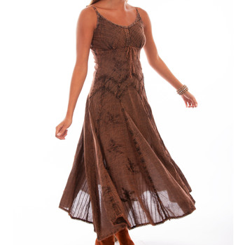 SCULLY Womens Honey Creek Copper Rayon Full Length Dress (HC62-COP)