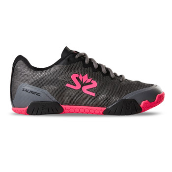 SALMING Women Hawk GunMetal/Pink Shoe (1239086-0251)