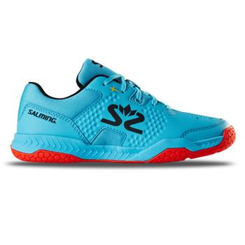 SALMING Junior Hawk Court BlueAtol/New FlameRed Shoe (1239101-3305)