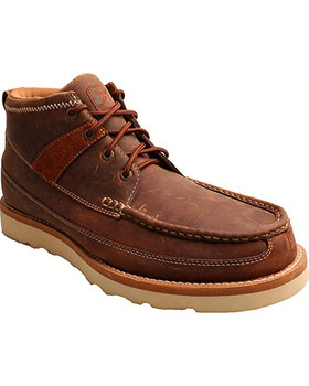 TWISTED X Mens Casual Oiled Saddle Steel Toe Shoe (MCAS001)