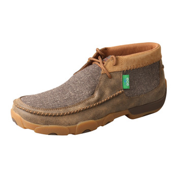 TWISTED X Mens Chukka Driving Bomber/Dust Moccasins (MDM0070)