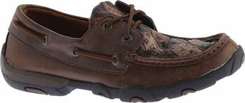 TWISTED X Womens Driving Oiled Saddle Ostrich/Bomber Ostrich Moccasins (WDM0056)