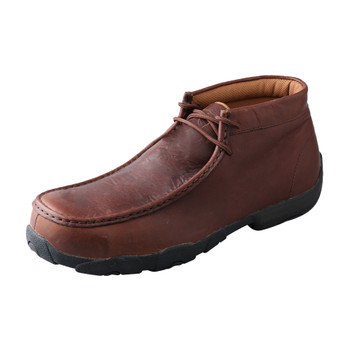 TWISTED X Mens Driving Oiled Brown/Brown Moccasins (MDMCT01)