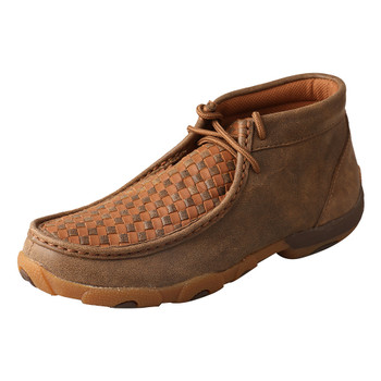 TWISTED X Womens Driving Bomber/Tan Moccasins (WDM0034)