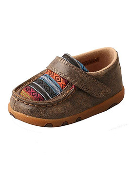 TWISTED X Infant Driving Bomber/Multi Serape Moccasins (ICA0004)