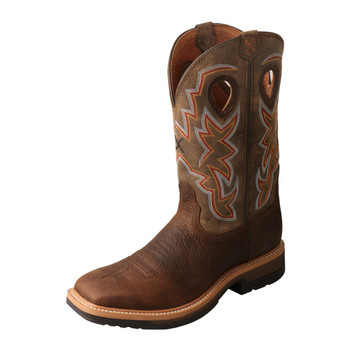 TWISTED X Mens Lite Cowboy Taupe/Bomber Workboot (MLCA001)