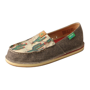 TWISTED X Womens Slip-On Driving Dust/Cactus Print Casual Loafer (WCL0010)