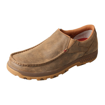TWISTED X Mens Slip-On Driving CellStretch Bomber Moccasins (MXC0003)