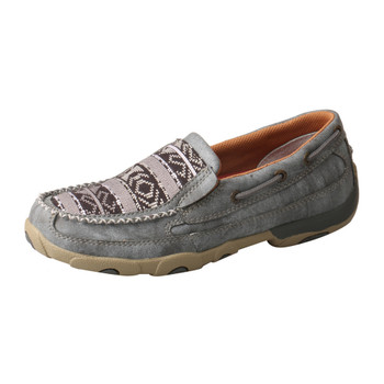 TWISTED X Womens Slip-On Driving Grey/Multi Moccasins (WDMS012)