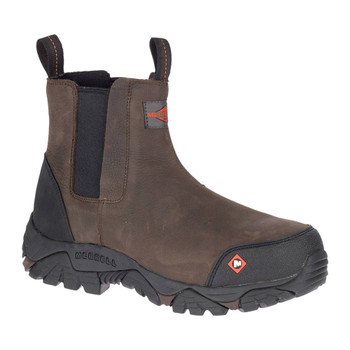 MERRELL Men's Moab Rover Pull On Comp Toe Espresso Work Boot