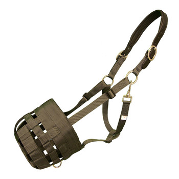 INTREPID INTERNATIONAL Best Friend Leather Crown Cob Grazing Muzzle (BF03L)