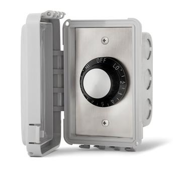 INFRATECH Input Regulator Single Flush Mount with Weatherproof Cover (14-4210)