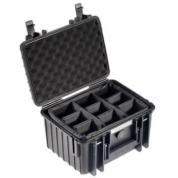 B&W INTERNATIONAL Type 2000 Black Outdoor Case with RPD Insert (2000/B/RPD)