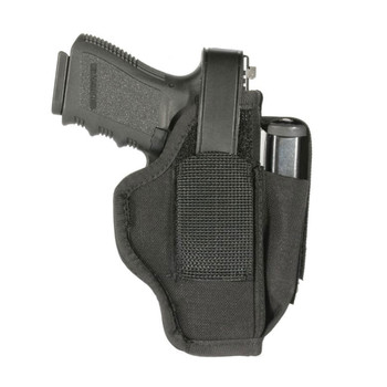 BLACKHAWK Nylon 2-2.25in Barrel Small Frame 5-6 Shot Revolver with Hammer Ambidextrous Size 36 Holster with Mag Pouch (40AM36BK)