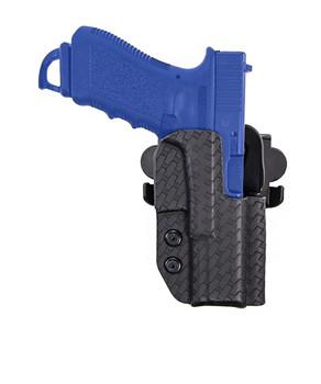 COMP-TAC International Basket Weave Right Hand Black OWB Kydex Holster For Glock 17/22/31 Gen 1-4 (C846GL043R00N)