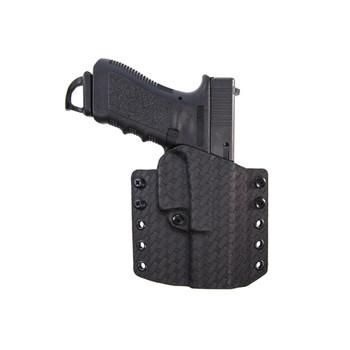 COMP-TAC Warrior Basket Weave Right Hand Black OWB Kydex Holster For Glock 17/22/31 Gen 1-5 (C847GL224R00N)
