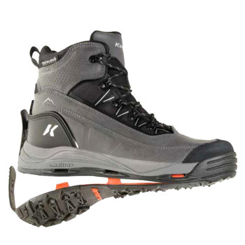 KORKERS Mens Verglas Ridge Gray Boot with SnowTrac and IceTrac Soles (OB9320GY)