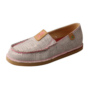 TWISTED X TETWP Slip-On Casual Loafer Light Grey/Pink Shoe (WCL0012)