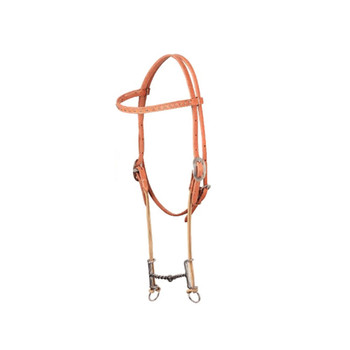 CLASSIC EQUINE Loomis Browband Twisted Wire Snaffle Gag Bit (HBLG21)