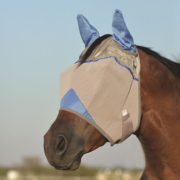 CASHEL Crusader Standard Small Horse/Arab Wounded Warrior Blue Fly Mask with Ears (CFMASE-BL)