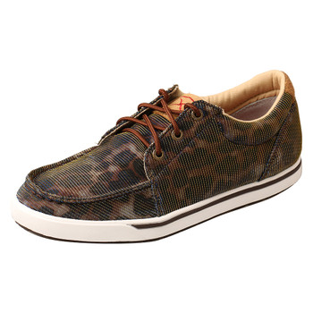 TWISTED X Women's Low-Cut Shiny Leopard/Brown Casual Shoe (WCA0023)