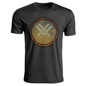 VORTEX Mens Faded Chest Logo Charcoal Heather Short Sleeve T-Shirt (219060-CHH)