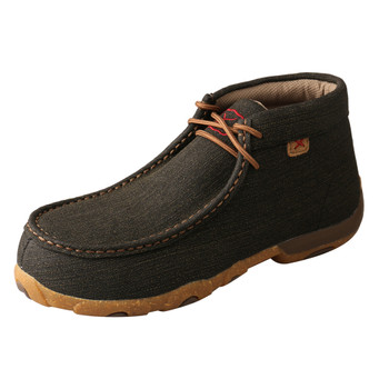 TWISTED X Women's Alloy Toe Rubberized Brown Driving Moc (WDMAL02)