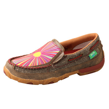 TWISTED X Women's Dust/Sunburst Slip-On Driving Moc (WDMS021)