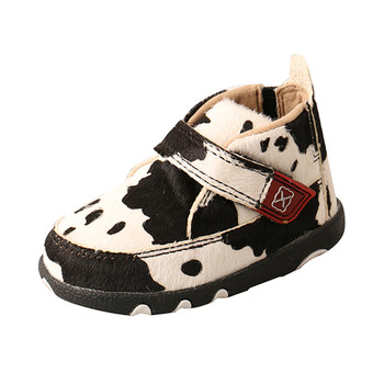 TWISTED X Infant White/Black Chukka Driving Moc (ICA0013)