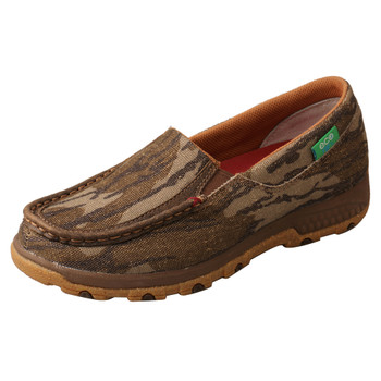 TWISTED X Women's Mossy Oak Camo Slip-On Driving Moc with CellStretch (WXC0010)