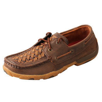 TWISTED X Women's Woven Tan/Brown Chukka Driving Moc (WDM0140)
