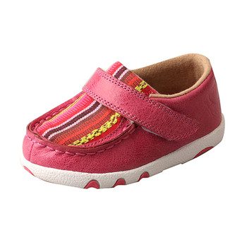 TWISTED X Infant Pink/Multi Canvas Driving Moc (ICA0003)