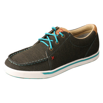 TWISTED X Women's Low-Cut Rubberized Brown/Turquoise Casual Shoe (WCA0029)