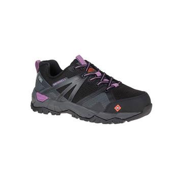 MERRELL Fullbench 2 SD Steel Toe Black/Purple Work Shoes (J17734)