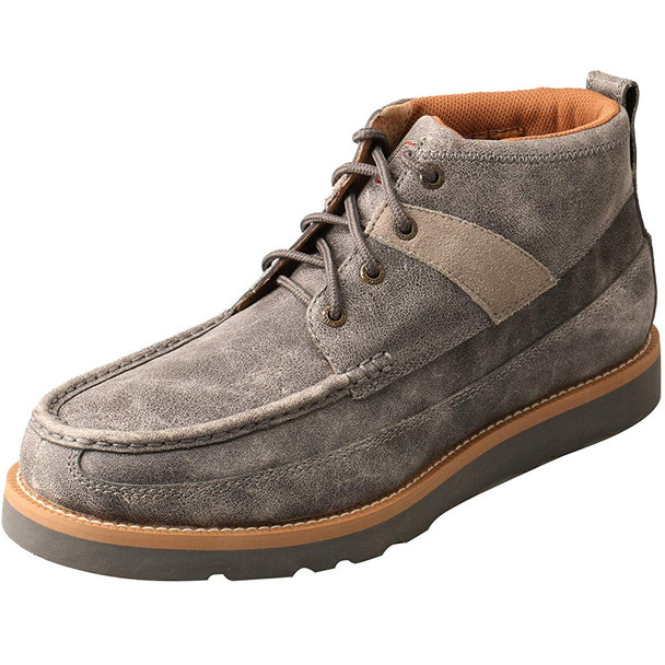 TWISTED X Mens Wedge Sole 4in Grey Boot (MCA0019)