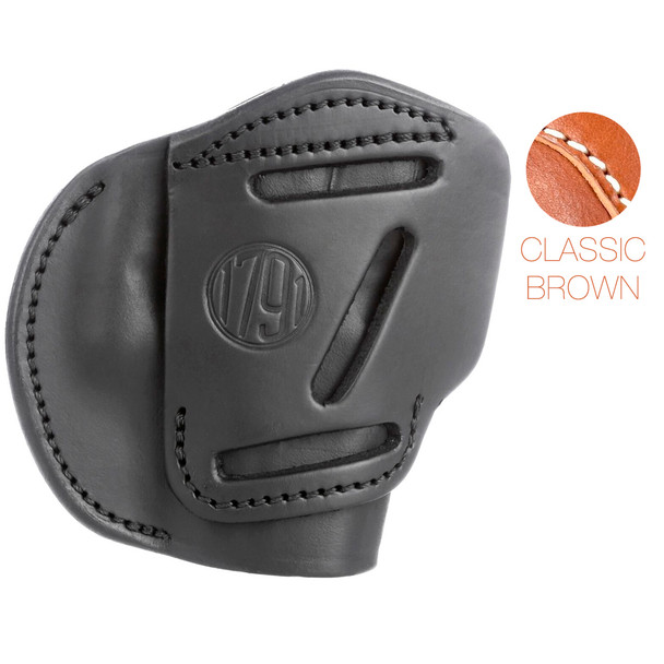 1791 GUNLEATHER 4WH 4 Way Classic Brown RH size 5 Holster (4WH-5-CBR-R)