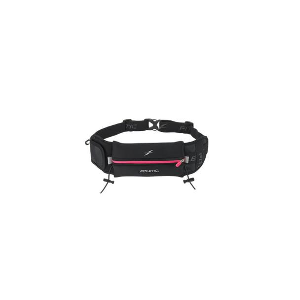 FITLETIC Ultimate II Black-Pink Running Belt (N04-08)