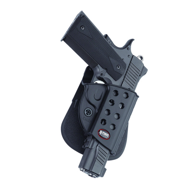 FOBUS 1911 Right Hand Roto Evolution Paddle with Rail Holster (R1911RP)