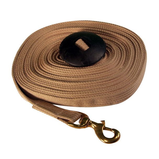 INTREPID INTERNATIONAL Deluxe Cotton Lunge Line with Rubber Stopper (103284)