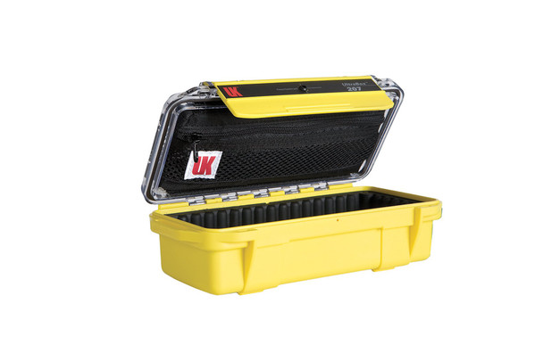UNDERWATER KINETICS 207 UltraBox ABS Rubber Liner Clear Lid Yellow Case (508361)