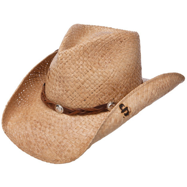 STETSON Comstock Natural/Brown Straw Hat (SSCMST-40348R)