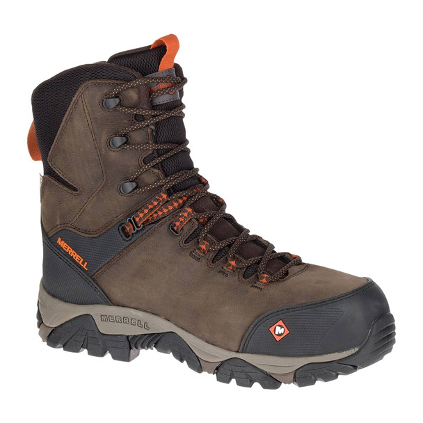 MERRELL Phaserbound 8in Thermo Waterproof Comp Toe Espresso Work Boot (J17729)