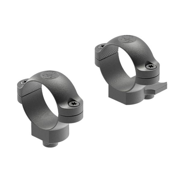 LEUPOLD Quick Release 1in Medium Ext Matte Black Scope Rings (49976)