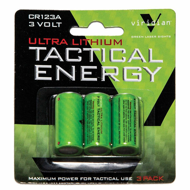 VIRIDIAN 3 Pack of CR123a X5L-X5L-RS Lithium Batteries (VIR-CR123-3)