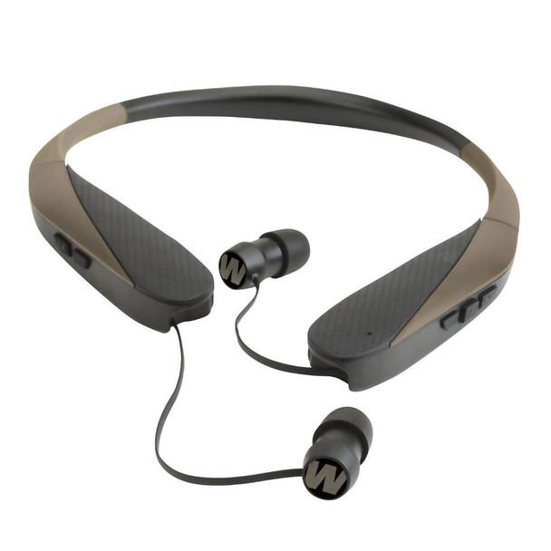 WALKERS GAME EAR Razor-XV Neck-Worn Flat Dark Earth Bluetooth Ear Buds (GWP-NHE-BT)