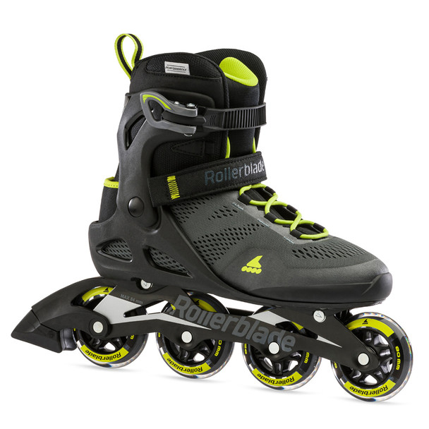 ROLLERBLADE Men's Macroblade 80 Black/Lime Fitness Inline Skate (071006001A1)