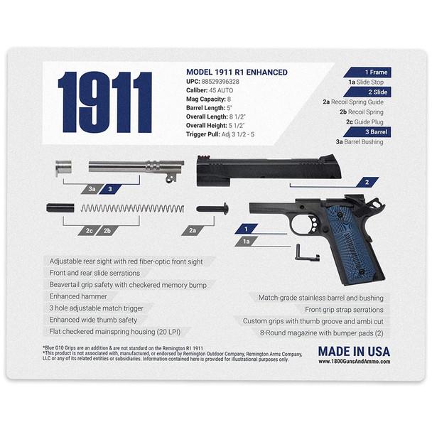 1800GunsAndAmmo Remington 1911 Gun Cleaning Mat 16x20 (MAT-REMINGTON-1911)