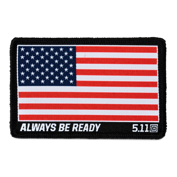 5.11 TACTICAL USA Flag Woven Red Patch (81292-460)